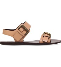 See By Chloe Romy Strappy Leather Sandals Tan