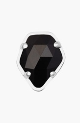 Kendra Scott Stone Charm Rhodium Black