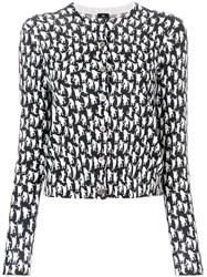 Paul Smith Cat Print Cardigan Black