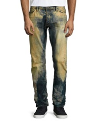 Prps Barracuda Dirty Brown Washed Denim Jeans Indigo