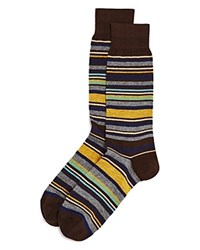 Bloomingdale's The Men's Store At Multistripe Socks Brown