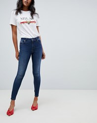 Lipsy Push Up Jeans In Dark Wash Blue Blue