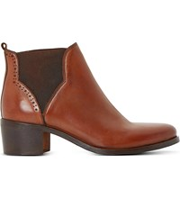 Dune Parnell Leather Ankle Boots Tan Leather