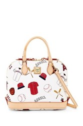 Dooney And Bourke Angels Zip Zip Satchel White
