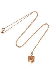 Eye M By Ileana Makri Dream Belle Gold Plated Crystal Necklace Gold