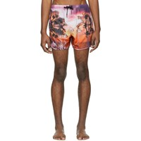 Neil Barrett Pink Palm Swim Shorts