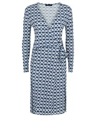 Aquascutum London Aida Dhaka Print Wrap Dress Multi Coloured