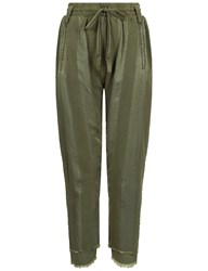Haider Ackermann Khaki Polonium Striped Joggers Green