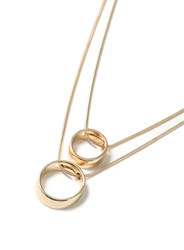 Topman Gold Look Ring Multi Row Necklace