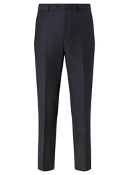 John Lewis Italian Super 110S Wool Milled Stripe Tailored Suit Trousers Navy