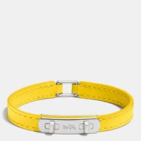 Coach Leather Swagger Bracelet Silver Banana
