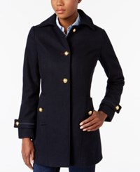 Nautica Button Front Military Peacoat Navy