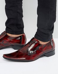 Jeffery West Pino Embossed Derby Shoes Red