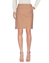 Laura Urbinati Knee Length Skirts Khaki