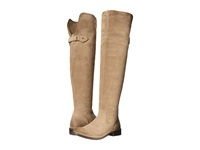 Frye Shirley Over The Knee Riding Ash Oiled Suede Women's Pull On Boots Tan