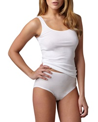 Hanro Cotton Seamless Briefs White White Medium