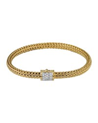 Classic Chain 18K Gold And Diamond Extra Small Bracelet John Hardy