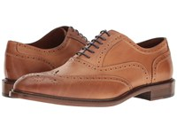 Massimo Matteo 6 Eye Wing Tip Tan Lace Up Wing Tip Shoes