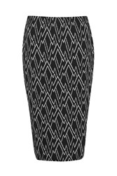 Great Plains Zig Zag Ottoman Tube Skirt Black