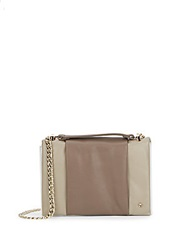 Halston Colorblock Mini Leather Shoulder Bag Fatigue Multi