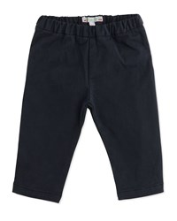 Bonpoint Twill Straight Leg Pants Dark Charcoal Gray