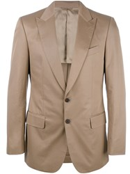 Gieves And Hawkes Formal Blazer Men Cotton 40 Brown
