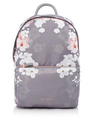 Ted Baker Blossom Print Sports Backpack Grey