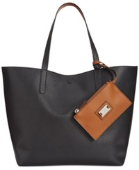 Styleandco. Style Co. Clean Cut Reversible Tote With Wristlet Only At Macy's Black Brown