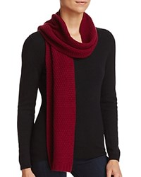Bloomingdale's C By Waffle Knit Cashmere Scarf Pinot
