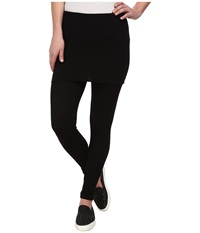 Splendid Thermal Fold Over Leggings Black Women's Clothing