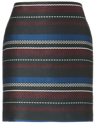 Suno Multi Woven Stripes Mini Skirt