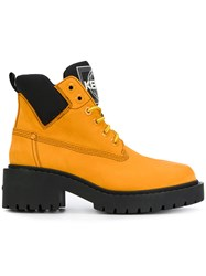 Kenzo Lace Up Desert Boots Yellow And Orange
