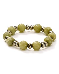Bourbon And Boweties Stretch Bracelet Green