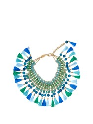 Rosantica By Michela Panero Geranio Multi Stone And Tassel Necklace Blue