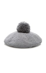 7Ii M'o Exclusive Knit Beret Grey