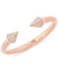 Vince Camuto Pave Arrow Hinged Cuff Bracelet Rose Gold