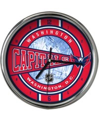 Memory Company Washington Capitals Chrome Clock Team Color