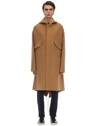Lanvin Hooded Wool And Cashmere Coat Camel