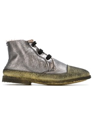 Rocco P. Metallic Lace Up Boots