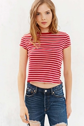 Bdg Striped Shrunken Tee Red