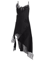 Marques Almeida Marques'almeida Lace Insert Cotton Dress Black