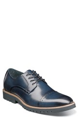 Stacy Adams Barcliff Cap Toe Derby Indigo Leather