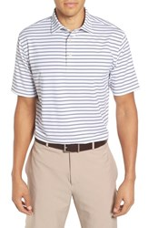 Peter Millar Men's Pug Stripe Moisture Wicking Stretch Jersey Polo