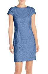Js Collections Women's Short Sleeve Soutache Cocktail Dress