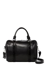 L.A.M.B. Josie Leather Satchel Bag Black