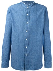 Salvatore Piccolo Denim Shirt Blue
