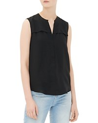 Sandro Elfe Sleeveless Silk Shirt Noir
