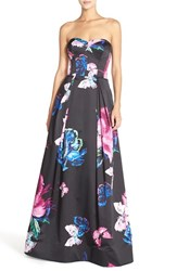 Women's Milly 'Ava' Butterfly Print Strapless Satin Ballgown