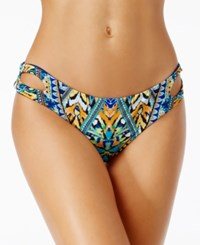 Bar Iii Monarchy Tribal Print Cheeky Bikini Bottoms Only At Macy's Women's Swimsuit Cool Multi