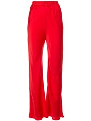 Michael Lo Sordo Flared High Waisted Trousers